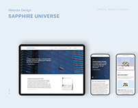 Website Design for Sapphire Universe