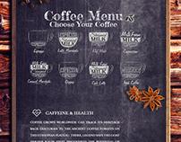 Coffee website by Zhanna Karapetyan