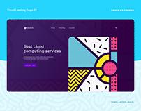 XD FREEBIE - Cloud Landing Page