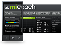 UI/UX for Fitness App - Adidas miCoach