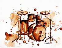 • Coffee Painting // Drums •
