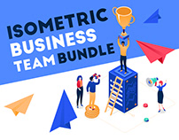 Isometric Business Team