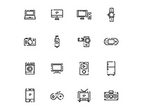 Electronic And Gadget Icon Set