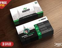 Business Card Design PSD Template