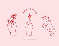 Hand to Hand Illustrations