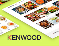 Website Kenwood with catalog of recipes / UI/UX