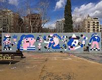 """Smartphone Love Story"" Mural"