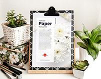 Free Clipboard Paper Mockup PSD