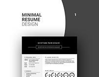 Minimal Resume Designs