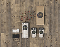 Branding mockup for coffee shop