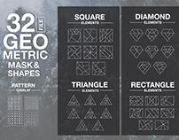 Vector Geometric Mask & Shapes Vol2