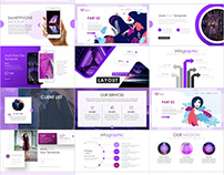 Creative Purple Report PowerPoint template