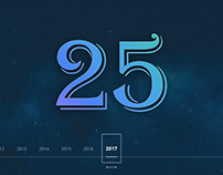 Timeline project for the 25th anniversary