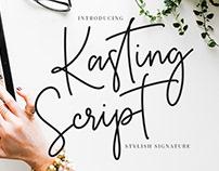 KASTING SCRIPT - FREE SCRIPT FONT