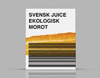 Svensk Juice, förpackningsdesign.