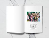 Gucci Cruise 2017 brochure