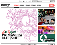 Primavera Sound website