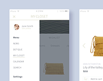 Clean fashion app concept