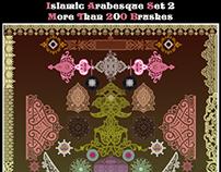200 Islamic- Arabesque Brush Set 2 HQ