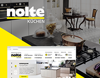 Nolte Kitchen — website design