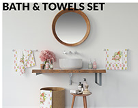 Bath & Towels Mockup Set