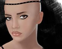 Ilustração paleta cromática de pele