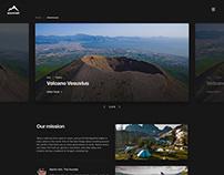 Mountart - UI concept of touristic website