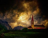 sky over church