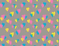 80s Love Repeat Pattern