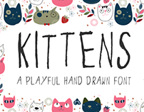 Kittens - a playful hand drawn font