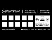 Jana Vaňková, DiS - permanentka na HIIT