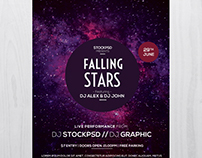 Falling Stars - Download Freebie PSD Flyers Template