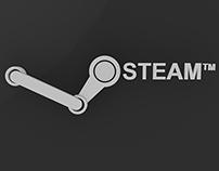 Steam Logo 3D