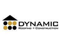 Dynamic Roofing and Construction Logo
