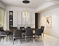 3D Renderings for a Refined Living and Dining Room