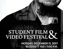 Student Film & Video Festival Poster