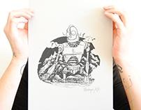 serigraphie affiche iron giant le géant de fer