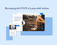 Revamping the UI/UX of a pain relief website