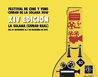 propuesta cartel cine y vino ciudad de la Solana 2018