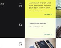 Coffee & Design Website Concept #2
