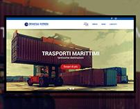 Logistics company Transport Web Site ui ux design
