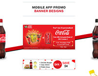 Coca Cola Cooler iOS/iPhone App Promo Banner Coupon
