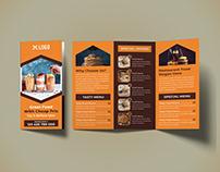 Restaurant Trifold Brochure PSD Template