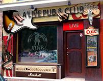 A'Live Pub&Club Tailored Branding