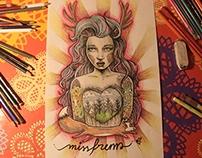Miss Frem - illustration Timelapse