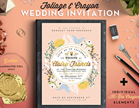 [-50%] Foil & Crayon Wedding Invite II