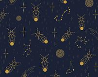 Golden Fireflies Constellations