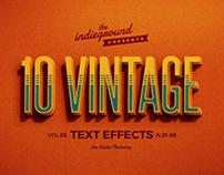 Retro/Vintage Text Effects Vol.3
