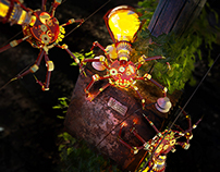 2015 - Steampunk bugs collection - Light Spiders