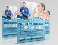 Delivery Drinking Water Service Flyer